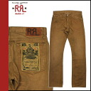 Double Aurel RRL DOUBLE RL Ralph Lauren denim jeans [Brown] G bread bootcut mens
