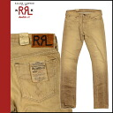 Double Aurel RRL DOUBLE RL Ralph Lauren denim jeans [Khaki] G bread low rise mens