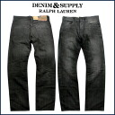 Denim and supply DENIM&SUPPLY Ralph Lauren denim jeans [black] STRAI men jeans [4/11 Shinnyu load] [regular]