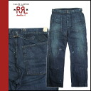 Point up to 20 times double are L RRL DOUBLE RL Ralph Lauren denim jeans men straight damage processing jeans 2014 arrival indigo [8/5 Shinnyu load] [regular]★★