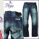 Pierre rupees PRPS denim jeans men's jeans slim fit low rise by 2015 spring summer new Indigo DEMON [3/18 new in stock] [regular] ★ ★