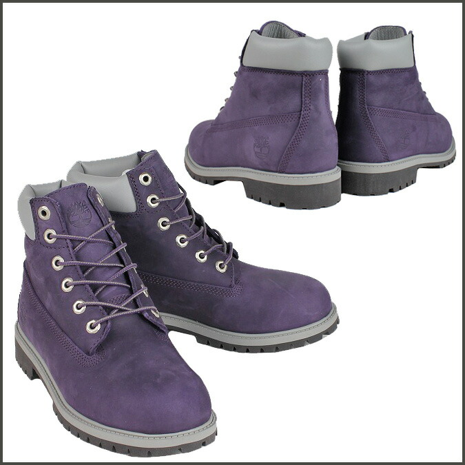 New Purple Timberland Ankle Boots 6IN PRM WP BOOT KIDS Viewshop_detail