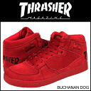 Slasher THRASHER BUCHANAN DOG sneakers TSBDS-121RBS suede men gap Dis THRASHER MAGAZINE suede cloth