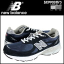 New balance new balance sneakers M990NV3 suede D wise mens NAVY suede