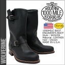 Wolverine WOLVERINE 1000 mile 10 inch Engineer Boots W05295 1000 MILE 10 inch ENGINEER BOOT leather men's Wolverine