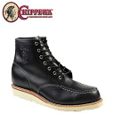 Point 2 x Chippewa CHIPPEWA 6 inch MOC to boot [Black] 90091 6 INCH MOC TOE BOOTS D wise leather men's [regular]