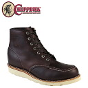 Point 2 x Chippewa CHIPPEWA 6 inch MOC to boots 90092 [cordovan] 6 INCH MOC TOE BOOTS D wise leather mens [genuine]