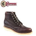 Chippewa CHIPPEWA 6 inch plain to boots 90094 6 INCH PLAIN TOE BOOTS D wise leather men's