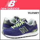 New balance new balance WL574NVT Womens sneakers B wise mesh x suede suede