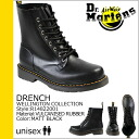 Dr. Martens Dr.Martens 8 hole boots Matt Black R14822001 DRENCH rubber mens Womens rainboots [regular]