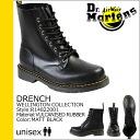 Dr. Martens Dr.Martens 8 hole boots Matt Black R14822001 DRENCH rubber mens Womens rainboots [regular]