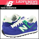 New balance new balance WL574RUB Womens mens sneakers B wise canvas blue