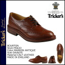 Point up to 20 times トリッカーズ Tricker's Burton wing tip shoes [marron antique] M5633 BOURTON die knight sole calf-leather men Made In ENGLAND baud ton [regular]