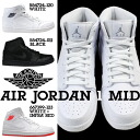 Nike NIKE AIR JORDAN 1 MID 554724-120 554724-011 sneakers Air Jordan 1 mid leather men's Air Jordan white black [2 / 8 new in stock] [regular] ★ ★