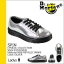 Dr. Martens Dr.Martens ladies R15316040 6 SPIN leather snake Hall shoe [Silver] [1 / 21 new stock] [regular] ★ ★