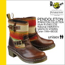 Dr. Martens Dr.Martens Pendleton R15851230 Engineer Boots [Tan x beige] PENDLETON canvas x leather mens Womens [12 / 21 new in stock] [regular]