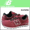 New Balance NEW BALANCE KL574PRG kids Lady's sneakers M Wise suede suede cloth wine red