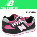 Point 2 x new balance new balance KL574RPG kids women's sneakers M wise suede x mesh suede charcoal [1 / 14 new in stock] [regular] ★ ★ 05P11Jan14