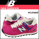 New Balance new balance WL574RUP Lady's men sneakers B Wise canvas pink