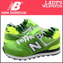 New balance new balance women's WL574YCG sneaker B wise suede / mesh suede green [2 / 8 new in stock] [regular] ★ ★