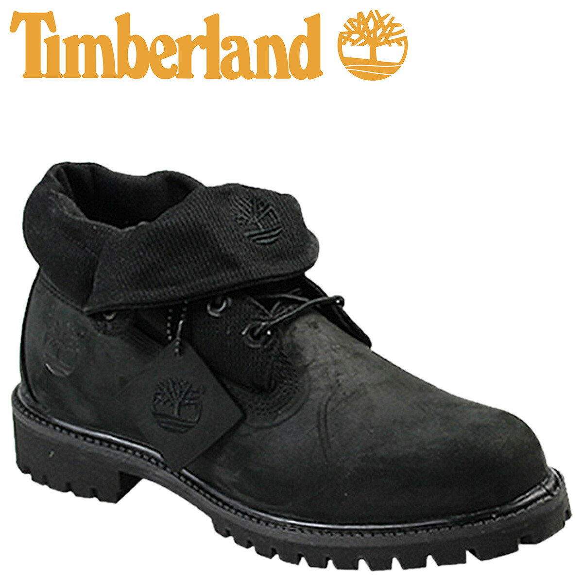 Timberland Roll Top Boots Black