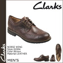 Kulaki Clarks nose wing [brown] NORSE WING leather men 62084 [regular]