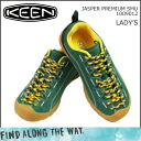 KEEN keen women's JASPER PREMIUM SMU sneakers Jasper premium nubuck green 1009012 [regular]