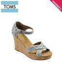 TOMS SHOES Toms shoes women's EMBROIDERED WOMEN's STRAPPY WEDGES [denim] embroidered ウマンズ ストラッピー ウェッジーズ cotton Sandals Toms Toms shoes [4 / 9 new in stock] [regular] ★ ★
