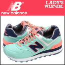 New balance new balance women's WL574IBL sneaker B wise textile ISLAND PACK Island Bermuda [6 / 26 new in stock] [regular]
