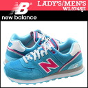New balance new balance women's WL574SJI sneaker B wise suede x mesh mens JACKET PACK STADIUM Stadium jacket Blue Suede [6 / 27 new in stock] [regular]