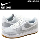 Point 2 x Nike NIKE AIR FORCE 1 07 LOW sneakers air force 1 07 low sea soccer men's Airforce 488298-051 grey PURE PLATINUM/WHT [regular]