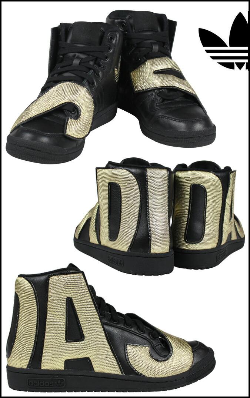 Adidas Jeremy Scott Women Shoes Gold Black Best Brand