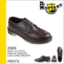 Dr. Martens 3989 Dr.Martens 5 Hall brogue shoes 3989 5 EYE BROGUE SHOE leather men's wing tip R14147201 Brown [12 / 10 new in stock] [regular]