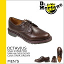 4 5 doctor Martin Dr.Martens オクタヴィウス hall shoes OCTAVIUS EYELET SHOE leather men R15687202 dark brown [9/3 Shinnyu load] [regular]★★