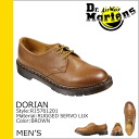 Point 2 x Dr. Martens Dr.Martens saurian Hall 3 shoes DORIAN 3 EYELET SHOE leather men's R15761201 Brown [9 / 3 new in stock] [regular] ★ ★ P12Sep14