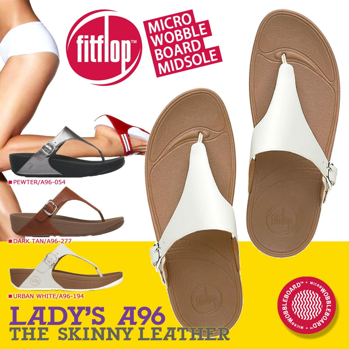 FitFlop フィットフロップ スキニー サンダル THE SKINNY TEXTURED A96 レディース