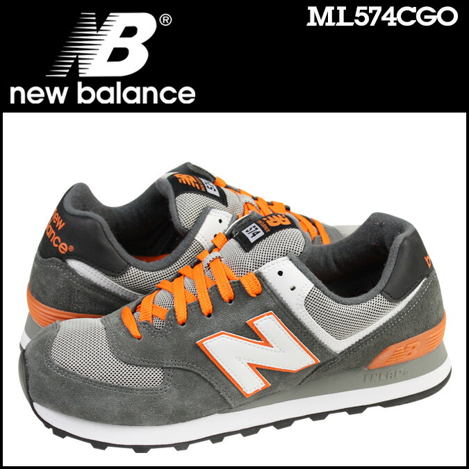 new balance ml574 grey/orange