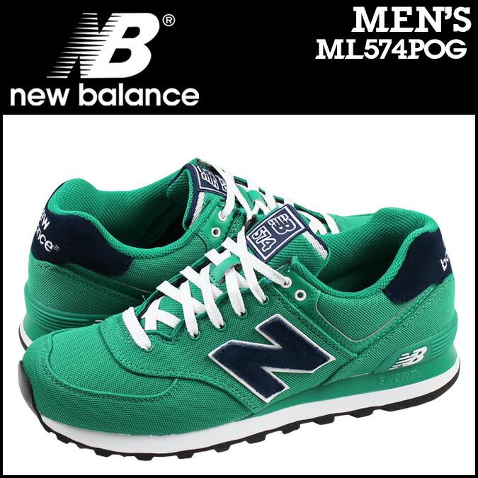 New Balance 574 (Pique Polo) Running Shoes Green / Navy ml574pog