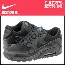 Point 2 x Nike NIKE women's AIR MAX 90 GS sneakers Air Max 90 girls leather x nylon kids junior kids GIRLS Air Max 307793-091 black [7 / 31 new in stock] [regular] ★ ★