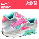 Nike NIKE women's AIR MAX 90 2007 GS sneakers Air Max 90 2007 girls leather kids ' Junior kids GIRLS 345017-065 GRY/HYPER PINK grey / pink [11 / 14 new stock] [regular] ★ ★