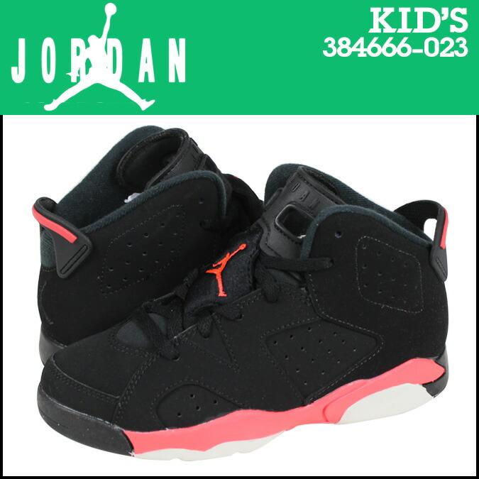 Nike NIKE kids AIR JORDAN 6 RETRO BP BLACK INFRARED sneakers Air Jordan 6 retro boys preschool nubuck junior kids 384666-023 black x infra red [1 / 9 new in ...