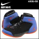 Point 2 x Nike NIKE women's MELO 1.5 RETRO GS sneakers Jordan Melo 1.5 retro girls leather kids junior kids GIRLS 631311-021 BLK/T.ORG-G.ROYAL black x Royal [1 / 31 new in stock] [regular] ★ ★ 02P08Feb15