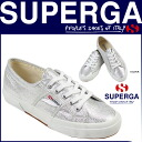 S001820 silver [8/ beginning new arrival] [regular] latest for 2750 2750 point double Pelger SUPERGA Lady's CLASSIC LAME W sneakers classical music lam canvas 2,014 years★★