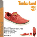Timberland Timberland Earthkeepers crafted fabric Oxford deck shoes EK HANDCRAFTED FABRIC OXFORD canvas men's 5737R Red [3 / 24 new in stock] [regular] ★ ★