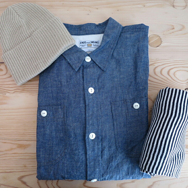 ENDS and MEANS Work Shirts Cotton/Linen
