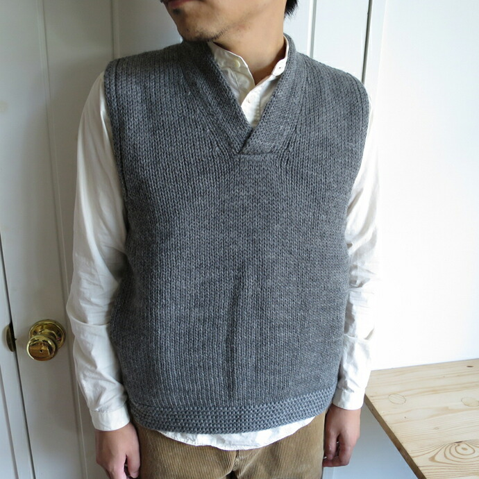 ENDS and MEANS Grandpa Knit Vest エンズアンドミーンズ グランパニットベスト