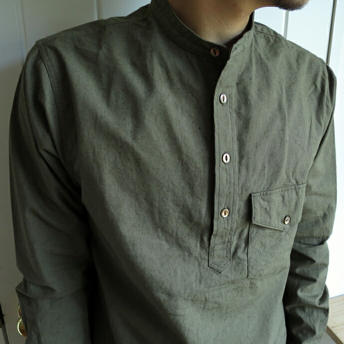 ENDS and MEANS / Band Collar Shirts