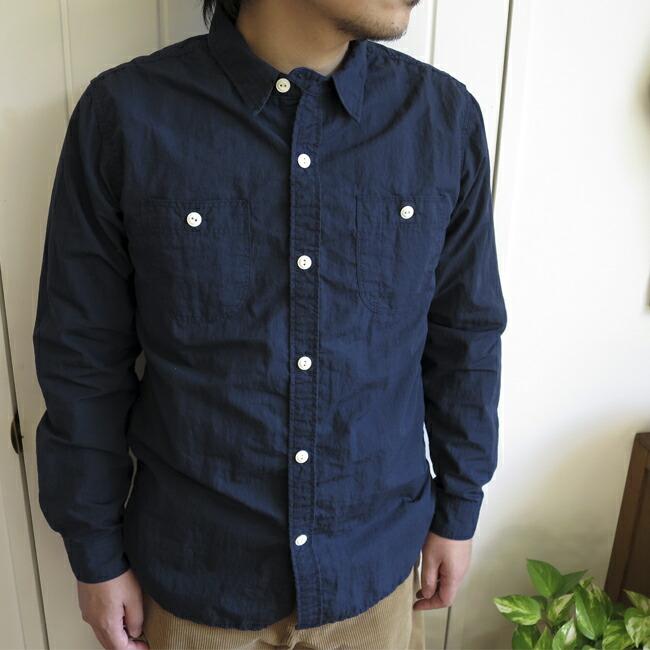 ENDS and MEANS  Work Shirts Cotton/Nylon ������ɥߡ���  �������� ���åȥ�/�ʥ���� EM152S011