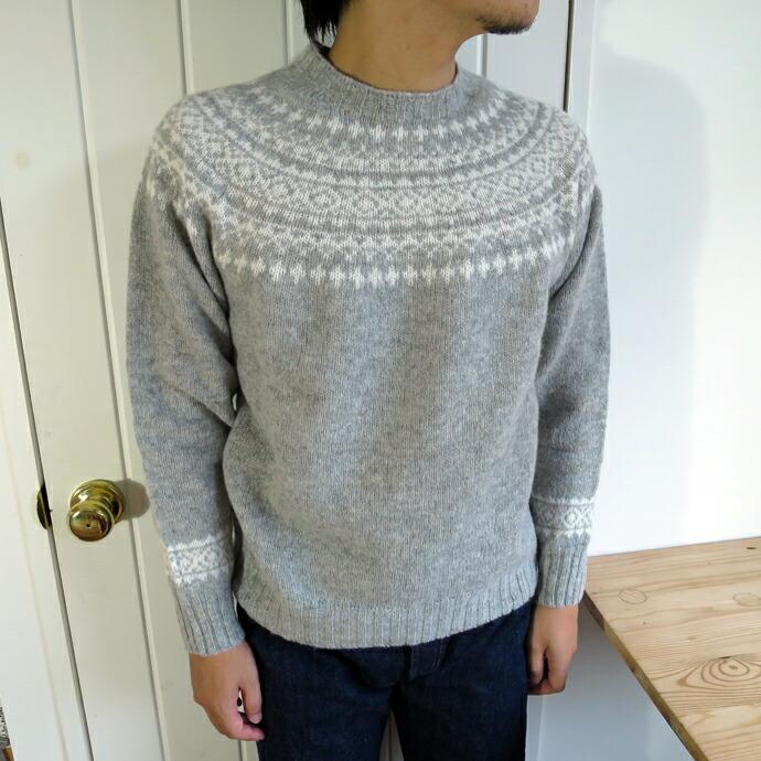 Harley of Scotland Nordic Crew Neck Sweater