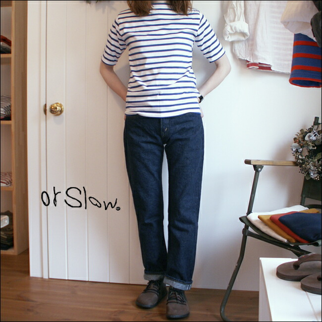 orslow �������?  IVY FIT JEANS ��LADY'S�ۡ������ӡ��ե��åȡ������󥺡� ��ǥ�����107��SLIM FIT ONE WASH